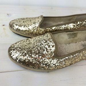 UGG Shoes - UGG Gold Glitter Loafers