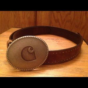 Accessories - Carhart brown premium leather belt.
