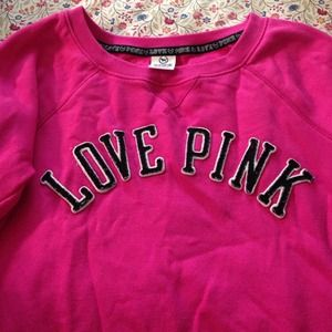 Pink pullover!