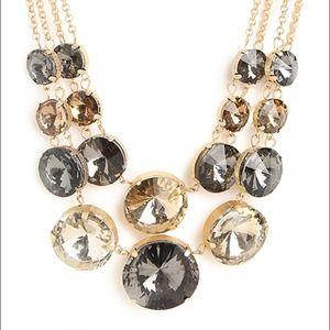 NWT Baublebar Gray Smokey Bib statement necklace