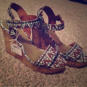 Christian Siriano Shoes - Tribal print wedges
