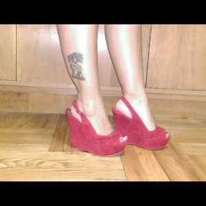 Shoes - Red Wedges :-)