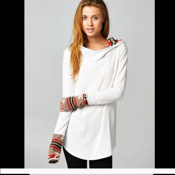 39% off Sweaters - 💋COMING SOON💋White Aztec Print Long Tunic ...