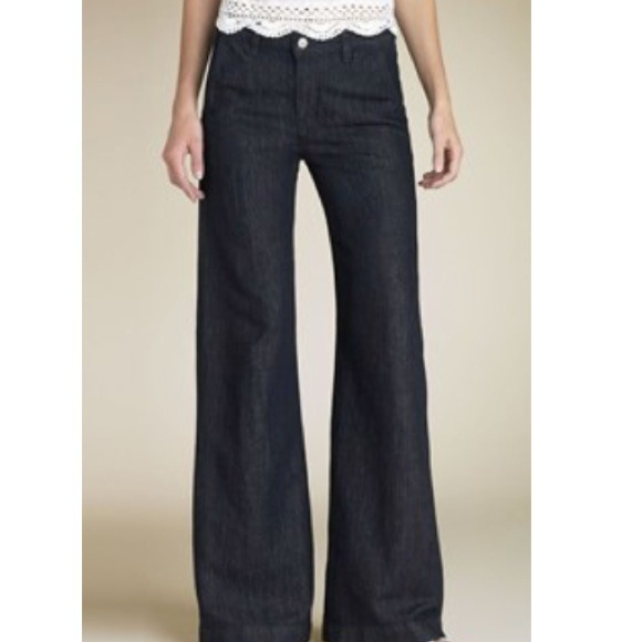 92% off J Brand Denim - Jbrand palazzo wide leg linen blend jeans ...