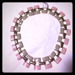 Pink&Grey Statement Necklace