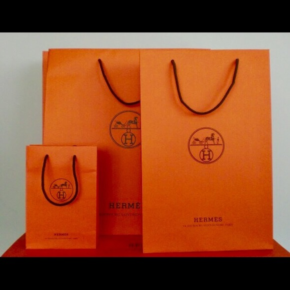 Hermes - 4 Hermes orange shopping bags S M L XL altogether from ...