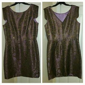 Brocade detail dress