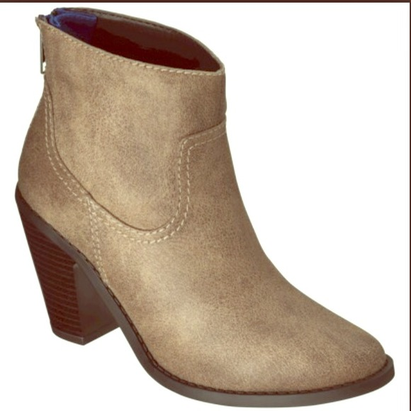 mossimo supply co target zipper ankle booties sz 11