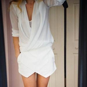 H&M Tops - FINAL SALE!!! White draped H&M blouse size 2