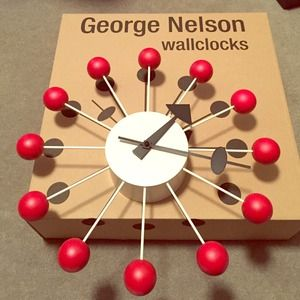 Authentic George Nelson Ball Clock (Red)