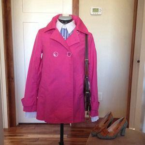 GAP Jackets & Blazers - GAP hot pink double button cute jacket