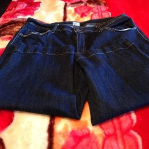Just My Size Pants - Just My Size denim capris- womans size 20W