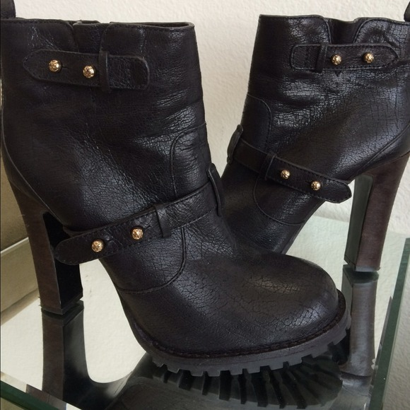 Tory Burch Landers Leather Booties sale eastbay free shipping discounts clearance official clearance sale ggkgufZ