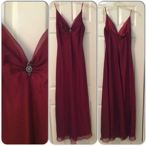 Betsy & Adam Dresses & Skirts - Betsy & Adam Cranberry Red Evening Gown