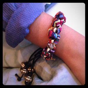Africana print gold bracelet