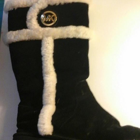 Michael Kors Boots With Fur Michael Kors Boots Black