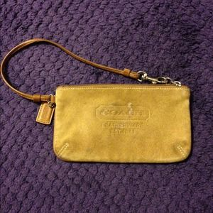 Coach Leather wristlet/clutch
