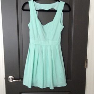 Aqua mint cut out dress