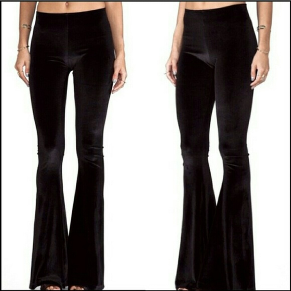 71deac3be6 Velvet bell bottom flare pants. Hippie boho chic. M 5441b5e6665aa019340b171b