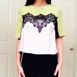 Tops - NWT Lime Blouse