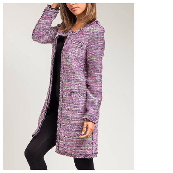 fb0ca5622aba 20% OFF TODAY ONLY Lavender Tweed Long Blazer