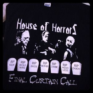 Tops - Glow in the dark House of Horror shirts!