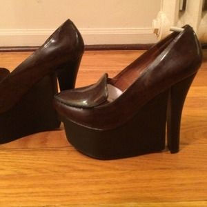 Jeffrey Campbell Leather Platform Loafer Brand New