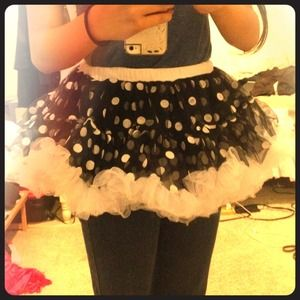 Black and white polka dot tutu