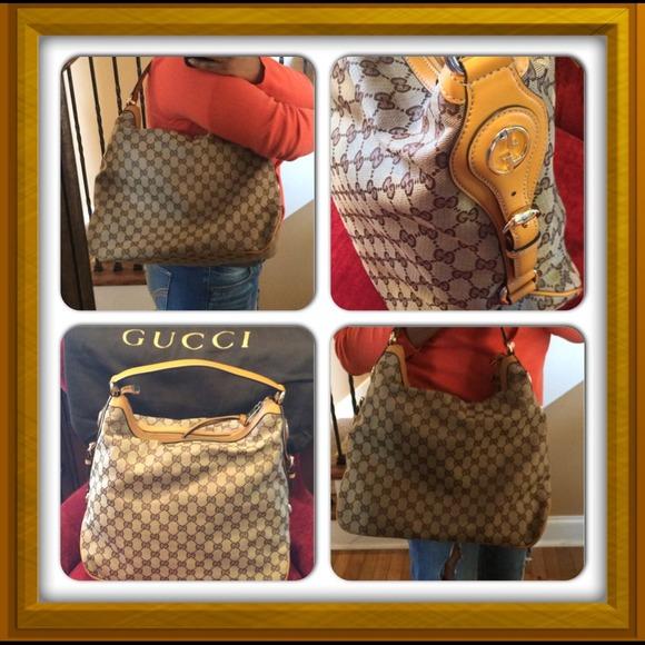 64% off Gucci Handbags - Gucci Miss GG Original Canvas Hobo ...