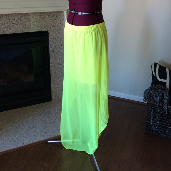 52 express dresses skirts yellow high low skirt