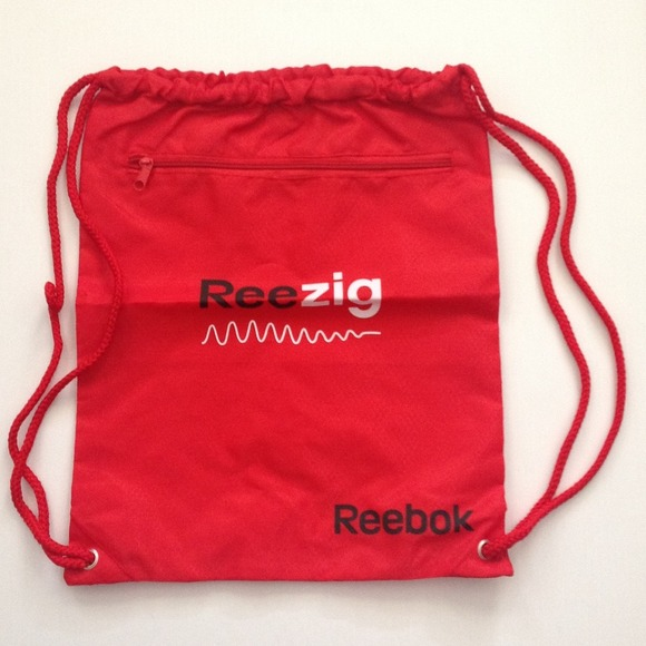 NEW Red Reebok Drawstring Red Backpack Bag