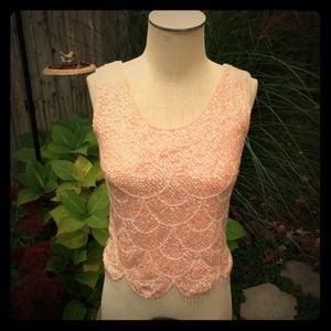 Vintage Pink Sweater Top