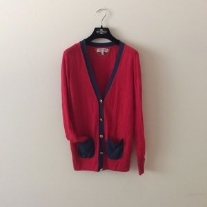 Gorgeous Juicy Couture color block cardigan