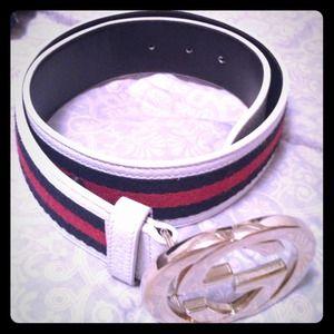 2b7d3851cddb Gucci Accessories - Gucci Signature Web Belt w Interlocking G Buckle