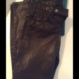 United Colors Of Benetton Pants - Black pleather like skinny pant
