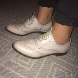 Cole Haan Stone Colored Oxfords