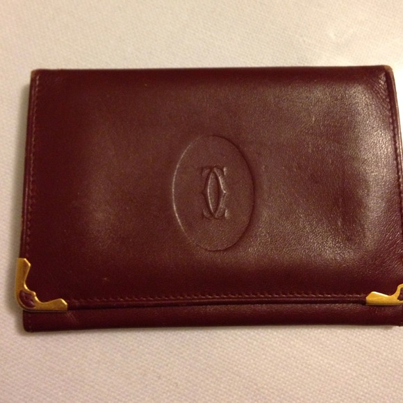 Cartier bags bifold leather wallet business card holder poshmark cartier bifold leather wallet business card holder reheart Image collections
