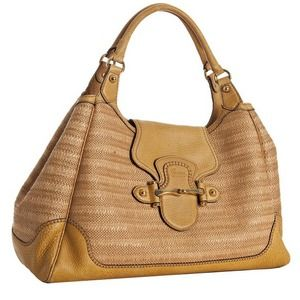 Gucci Straw New Pelham Large Shoulder Bag & dc NWT