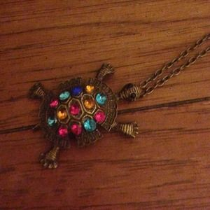 Colorful turtle necklace!