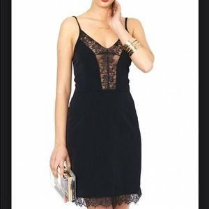 NWT, ASOS, Stunning Black Lace Panel DressHP