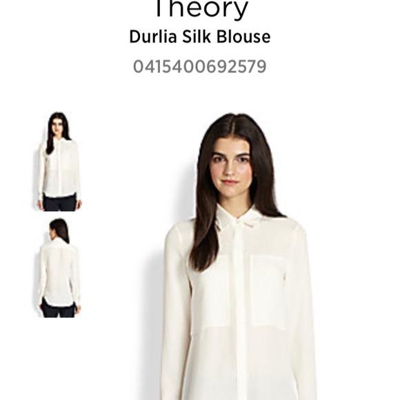 Theory Durlia Silk Blouse 11