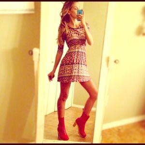 ⭐️NEW⭐️Everly Aztec Pleated Mini Dress!