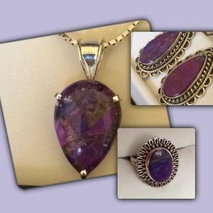 Jewelry - Purple Turquoise Jewelry Set🎉HPX3🎉