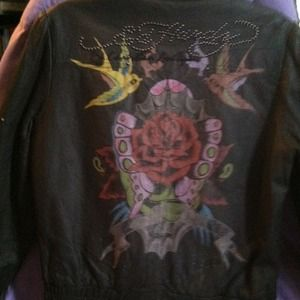 Ed Hardy leather jacket SALE 