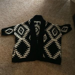 Aztec print oversized sweater