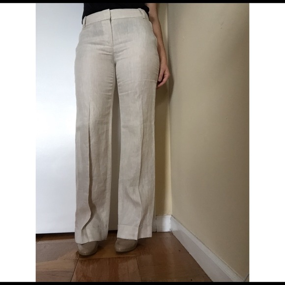 49% off J. Crew Pants - J. Crew Café Trouser in Linen from ...