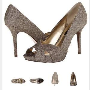 Nina Shoes - Nina - Fosetta Dress Pumps. Platino Bliss color