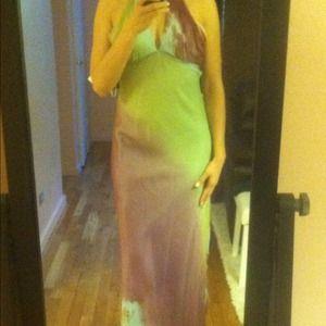ABS Allen Schwartz Dresses & Skirts - 🎉H.P🎉Allen Schwartz evening halter silk dress