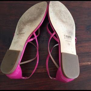 c1b1e733ce537 J. Crew Shoes - J.Crew Audra Patent Sandal in Bright Dahlia