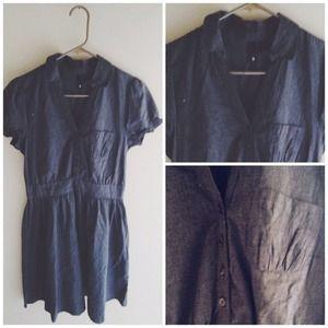 ✨NWOT✨ H&M Cotton Dress in Slate Grey